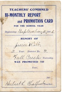 jesse wilt report card