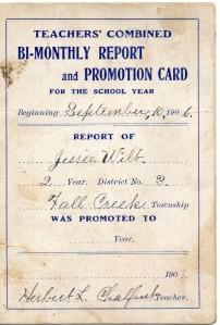 jesse wilt report card