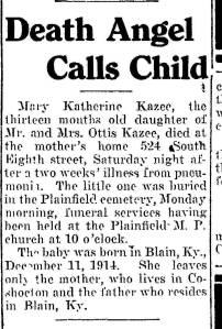 mary kazee obit