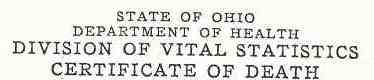 death certificate image
