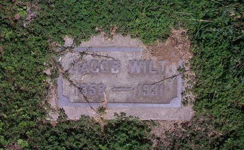 Jacob Wilt gravestone