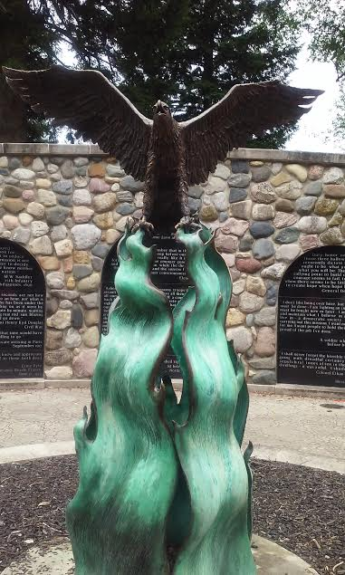 anderson-indiana-17-july-2016-shadyside-park-veterans-commons-eagle